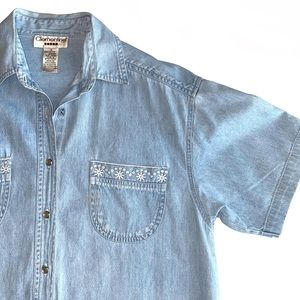 Vintage Clementine Chambray Button Up